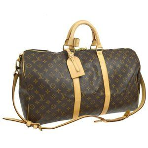Auth Louis Vuitton Keepall 55 Bandouliere travel